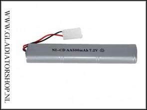 Airsoft 7,2v 500mAh oplaadbare batterij
