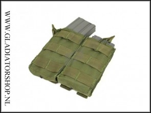 Condor Outdoor Double Open-Top M4 Magazijn Molle Pouch leger groen