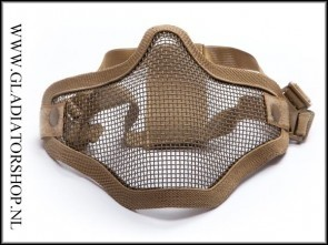 Invader gear  Airsoft mesh face mask Tan
