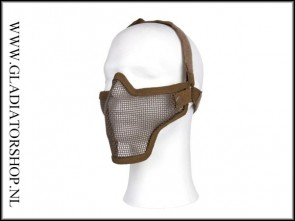 101inc  gear  Airsoft mesh face mask khaki