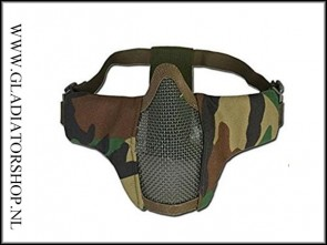 101inc gear Airsoft nylon/mesh face mask Woodland