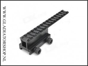 Warrior weaver tactical see through rail sight met 14 slots