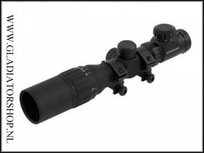 Warrior tactical 2-6x32AOEG scope met elektrische rood/groen verlichting