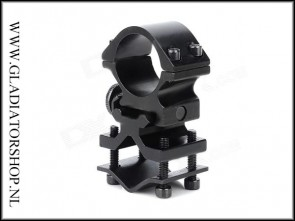 Warrior gun mount en holder klem samen