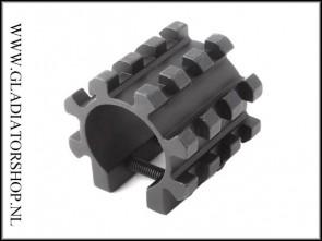 Warrior universal Aluminium Half Pipe Clamp voor 20MM Rail Gun