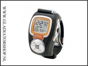 PMR Portofoon - Walkie Talkie Wrist Watch set in zwart