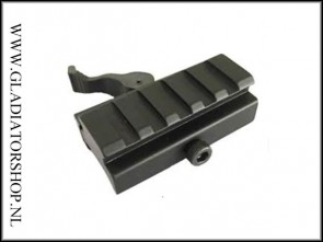 Warrior aluminium Quick Release High geleider rail