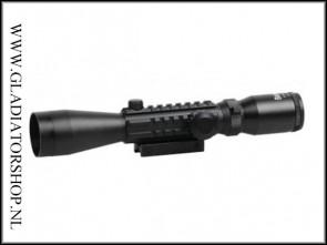 Warrior tactical 3-9x40EG fishbone scope met electrische rood/groen verlichting