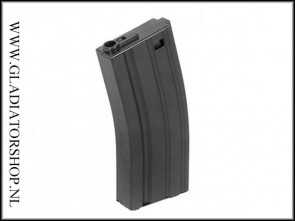 Pirate Arms Airsoft Magazine M4 Midcap 190rds metaal