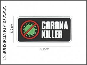 PVC Velcro Patch: Corona Killer