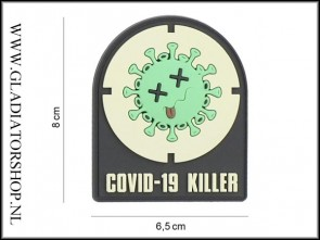 PVC Velcro Patch: COVID-19 Killer