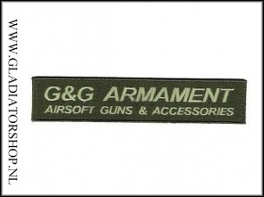 G&G Armament Official Airsoft od green, velcro patch