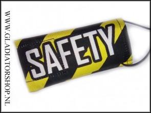 Safety barrelsock geel/zwart