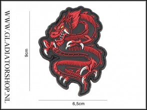 PVC Velcro Patch: Dragon Rood