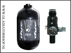 Dye Core persluchtfles 1,3 liter (1,3L)  inclusief regulator