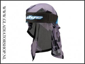Dye Headwrap Airstrike Cyaan/zwart