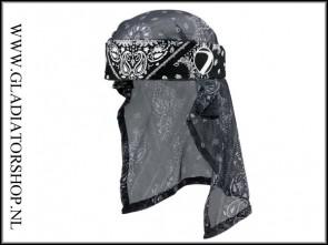Dye Headwrap Bandana zwart