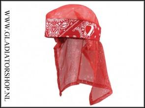 Dye Headwrap Bandana rood