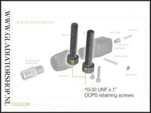 "Planet Eclipse ASA retaining screws / 10-32 UNF x 1"""