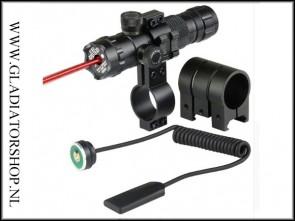 Warrior rode laser met weaver en barrel mount
