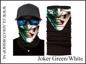 Fantasy facewrap joker green/white