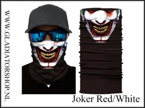 Fantasy facewrap joker red/white