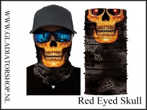 Fantasy facewrap red eyed skull