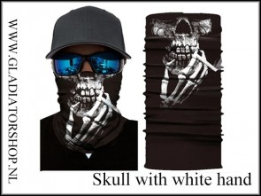Fantasy facewrap skull white with hand