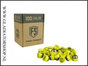 Tiberius Arms First Strike paintballs yellow / smoke 100 stuks
