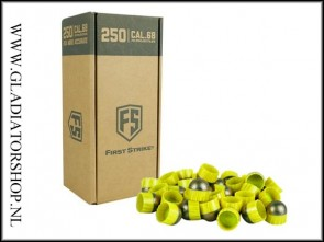 Tiberius Arms First Strike paintballs yellow / smoke 250 stuks