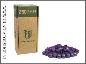 Tiberius Arms First Strike paintballs purple / smoke 250 stuks