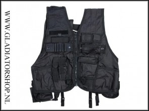 101INC Swat tactical vest De Luxe zwart