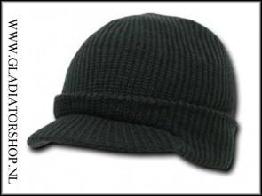 Genuine watch cap zwart