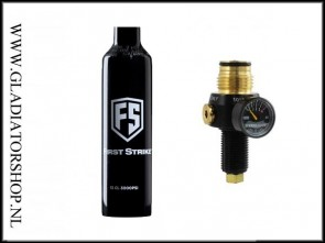 First Strike / PepperBall 0.2L 200 bar fles inclusief FS Hero regulator
