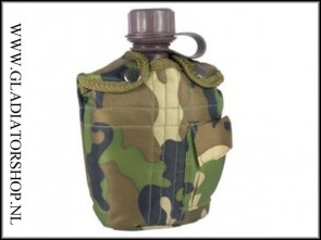 Highlander plastic water bottle camo