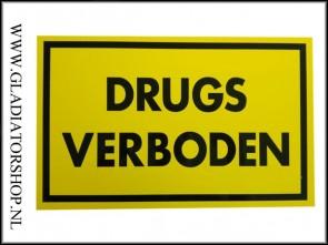 Informatie bord: Drugs verboden