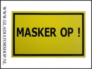Informatie bord masker op