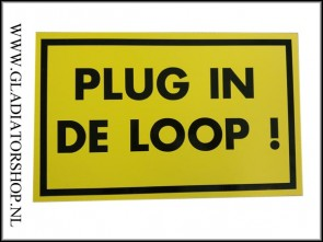 Informatie bord:plug in de loop