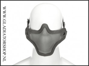 Invader gear  Airsoft mesh face mask Grey