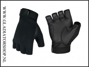 Invader Gear half finger gloves black