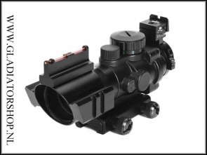 (O) Luger 4x32 SCOG Red/Green/Blue Dot Reflex Tactical Optics Sight Scope