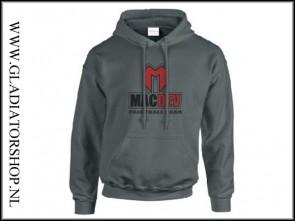 Macdev Logo pullover hoodie charcoal