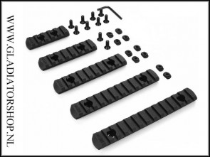 Warrior M-Lock weaver rail 5-pack