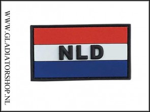 NLD rubber velcro patch / rood, wit & blauw