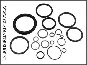 OringKings 3x Oring kit zwart voor Eclipse Geo 1 / 2 / 3 / 3.5
