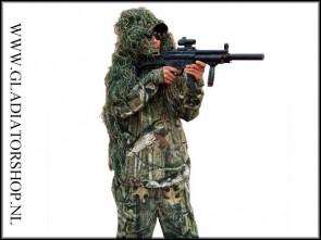 Ghillie sniper suit hoofd, schouder en/of rug camouflage bedekking