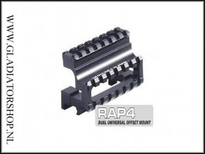 Rap4 tactical dual offset top & side riser mount rail