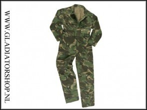 Junior overall woodland camouflage