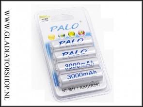 Palo 3000 mAh oplaadbare AA penlite 4-pack