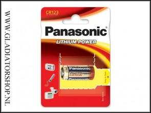 Panasonic 3 volt CR123A batterij